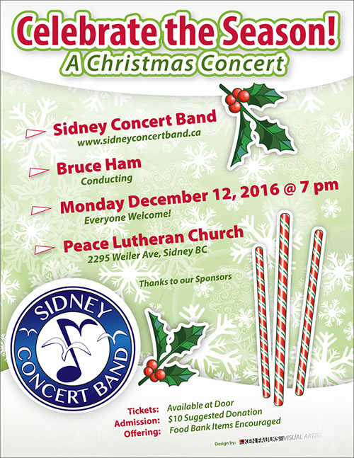 Celebrate the Season - A Christmas Concert December 12, 2017, at Peace Lutheran Church, Sudney BC.